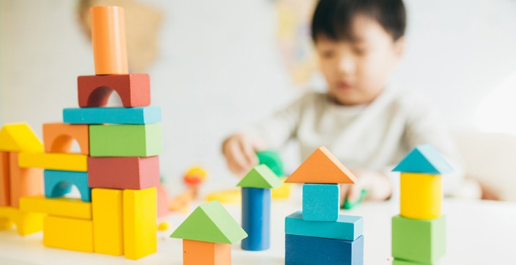 Building blocks and child