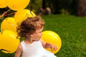 child learner and balloon