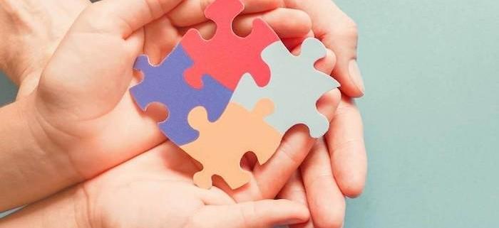 Autism puzzle in hands
